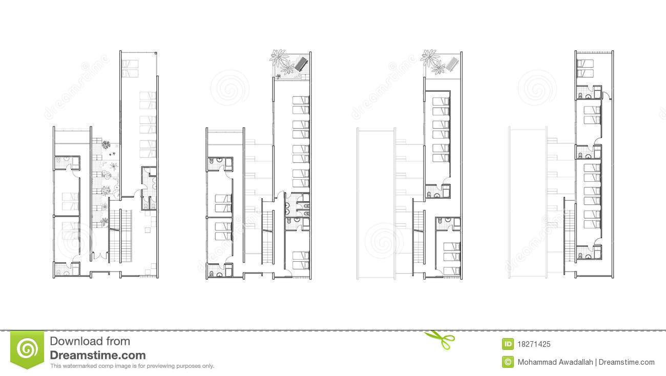 Floor plans of an architectural design royalty free stock for Architectural plans