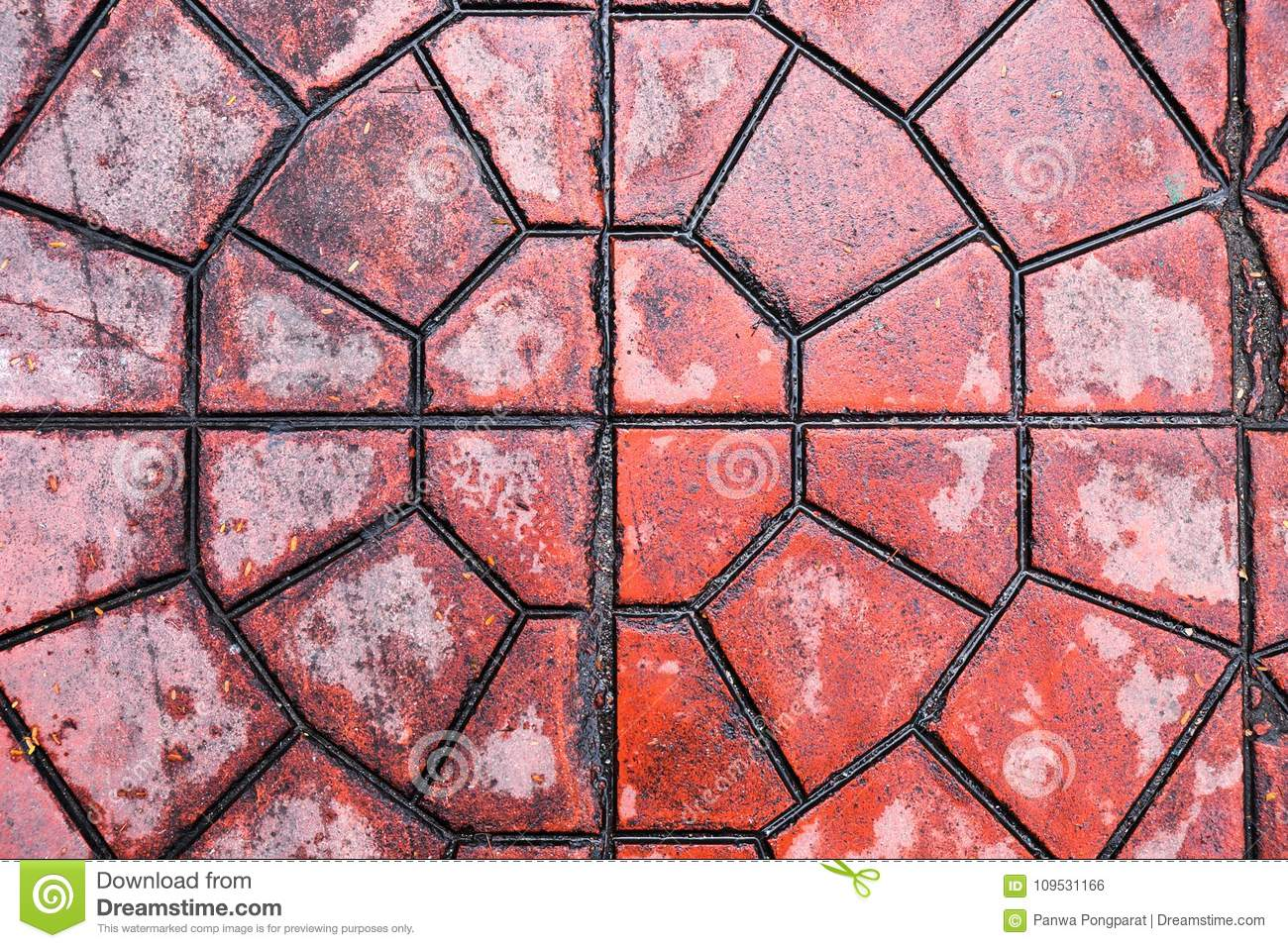 Floor with red stone tiles stock photo image of tiles 109531166 floor with red stone tiles dailygadgetfo Gallery