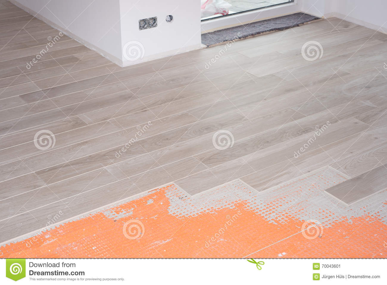 Floor renovation with ceramic tiles in wood design stock image royalty free stock photo download floor renovation with ceramic tiles in wood design dailygadgetfo Images