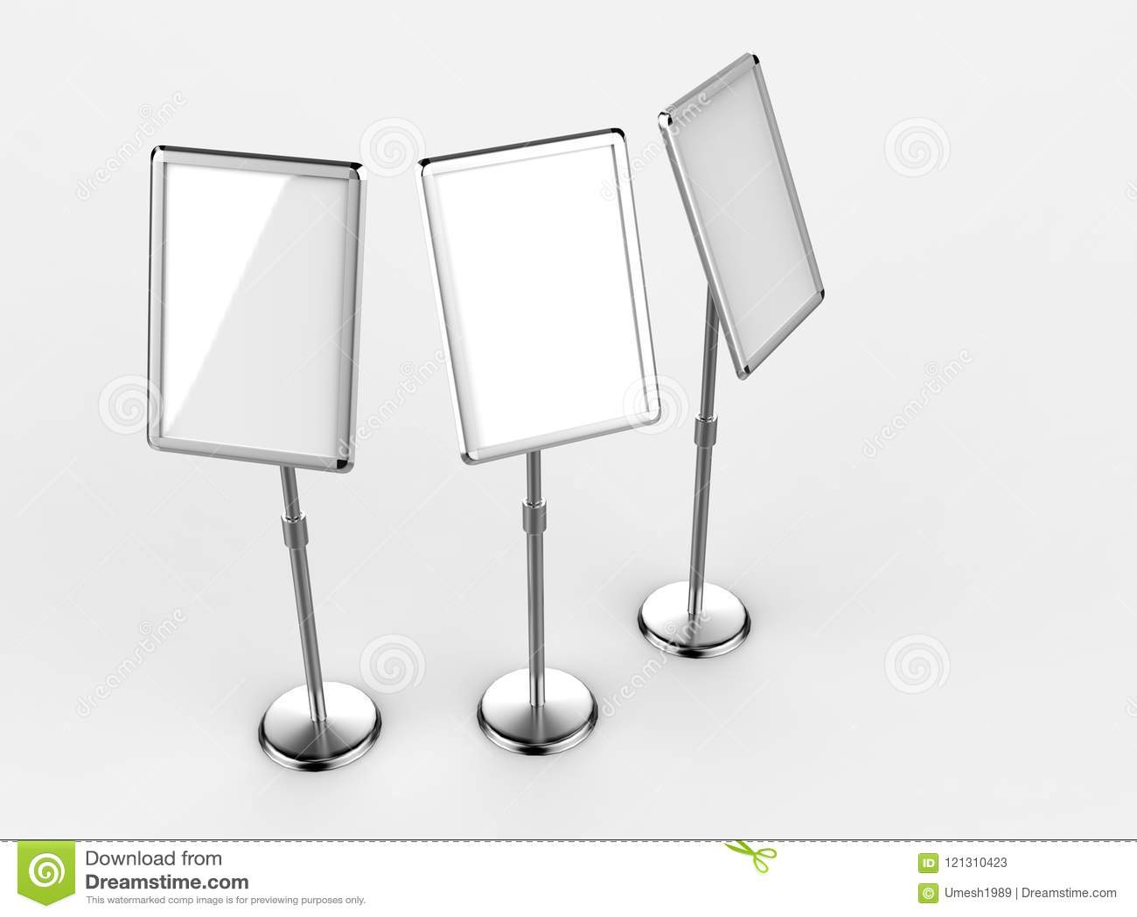 A A Floor Standing Menu Poster Display Holder Snap Frame - Restaurant table sign holders