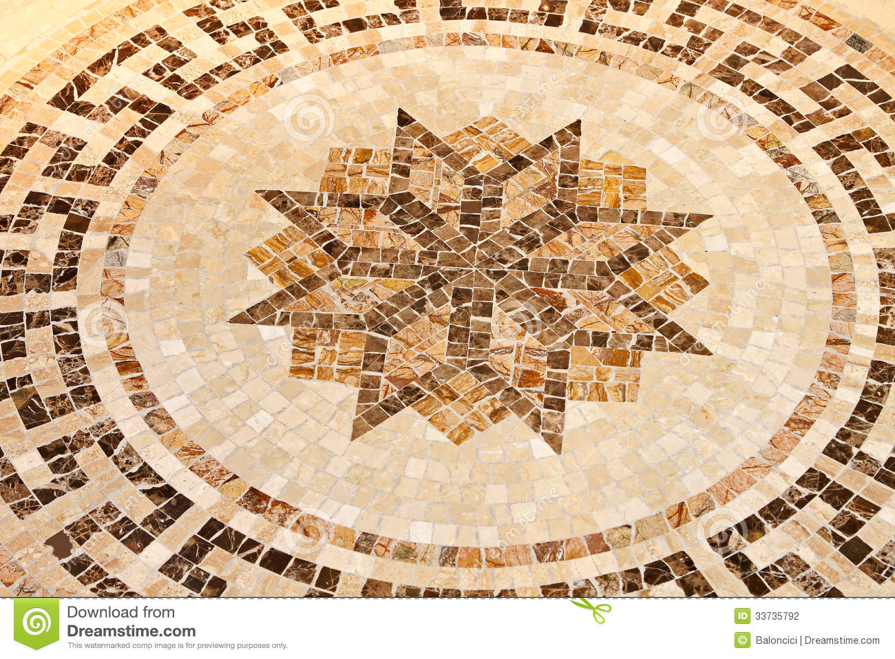 Floor Star Mosaic Stock Photography Image 33735792