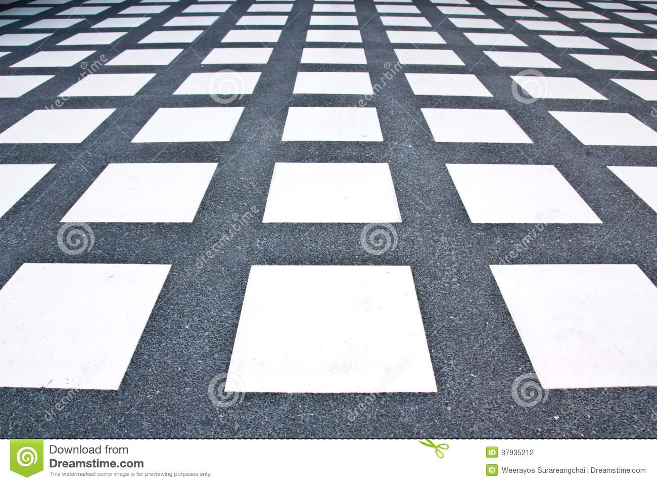 Floor Tile Pattern White Rectangle Stock Photography Image