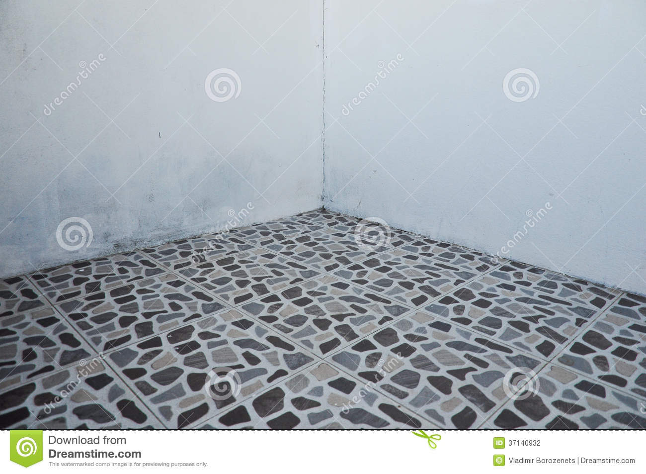 Broken tiles mosaic floor or wall background texture stock photo - Tiles Wall And Floor Background Stock Photo