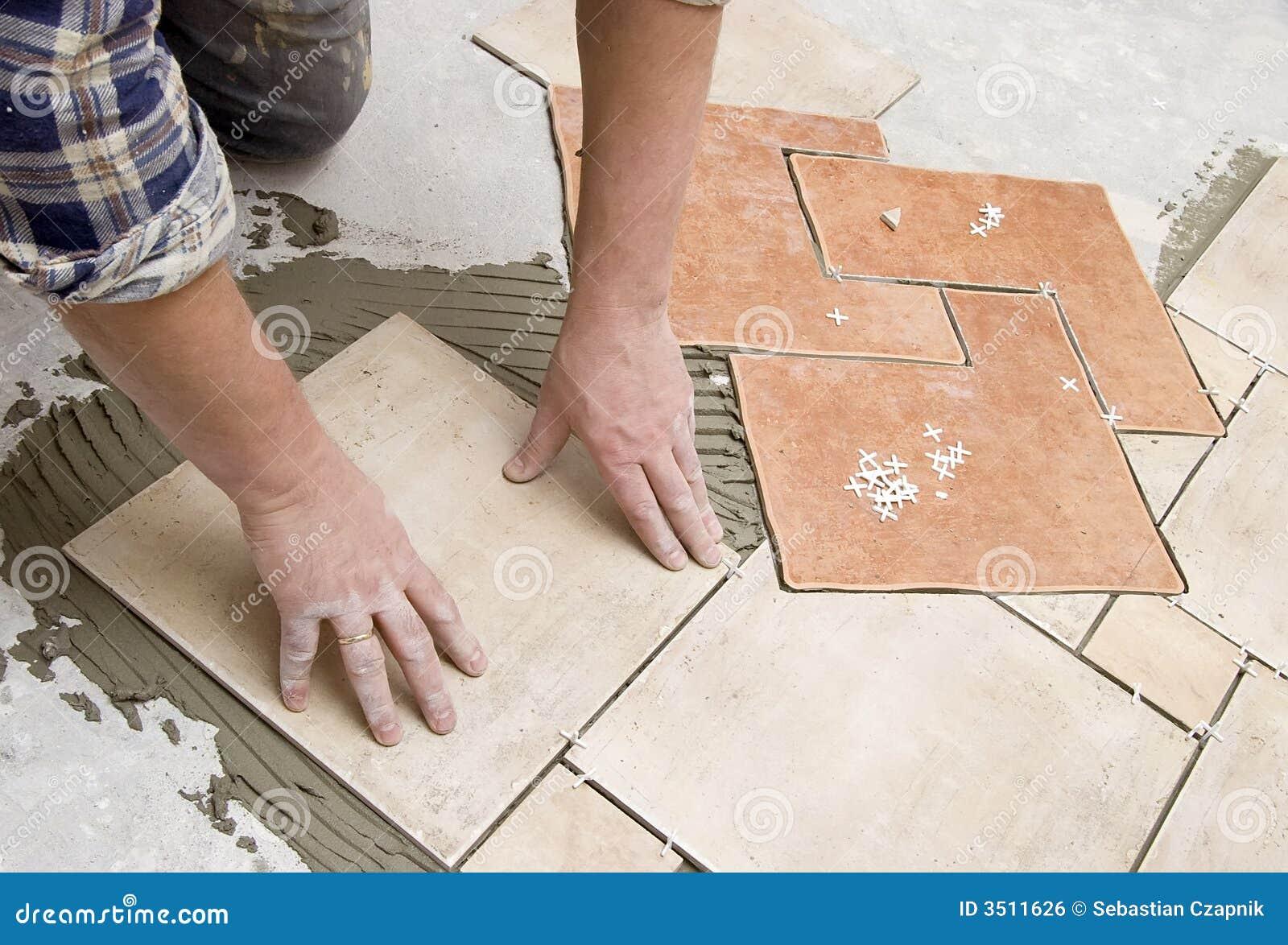 Виды работ при укладке плитки на пол