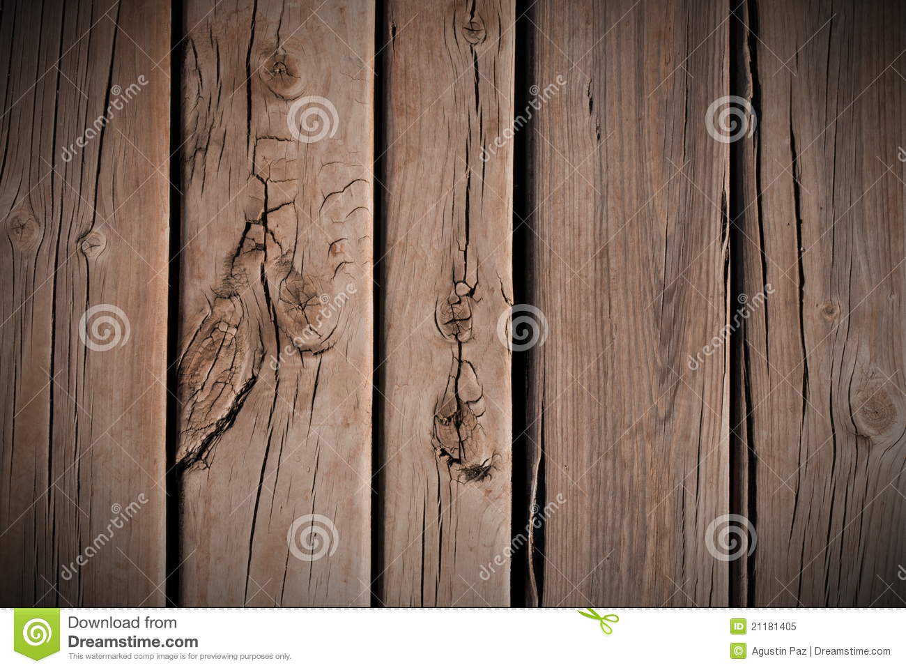 Floorboards with knots