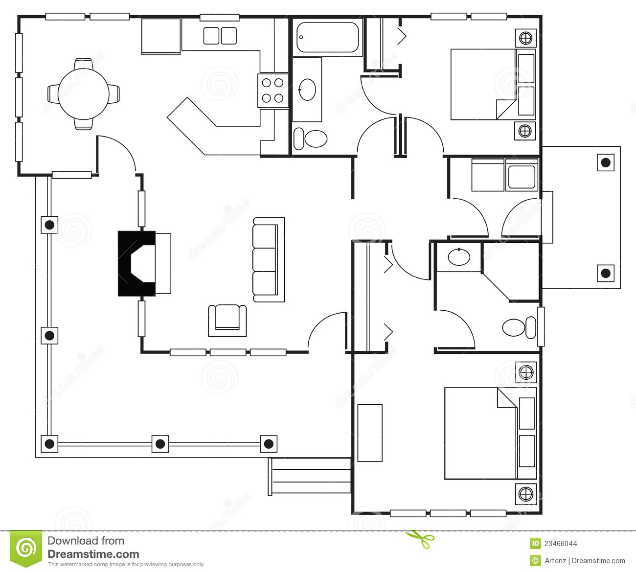 Floorplan stock images image 23466044 for Stock floor plans
