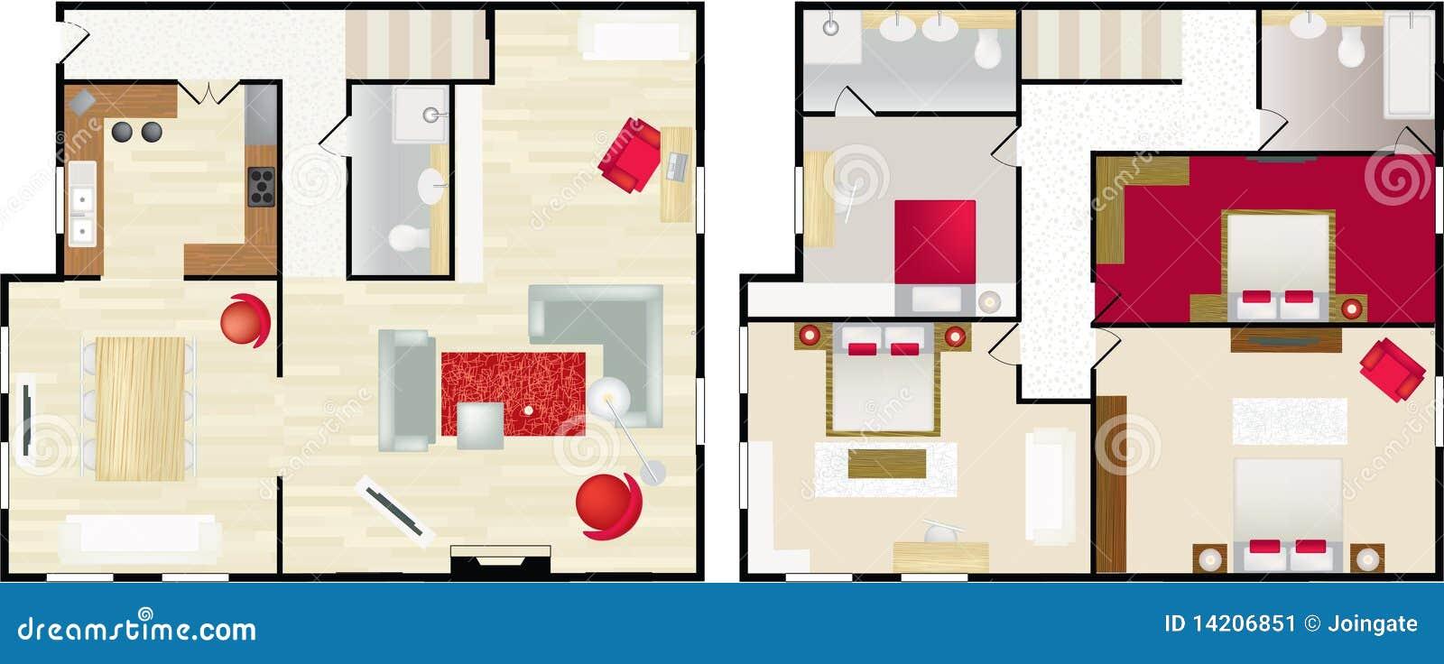 Floorplan Type De La Maison De S Image stock - Image: 14206851