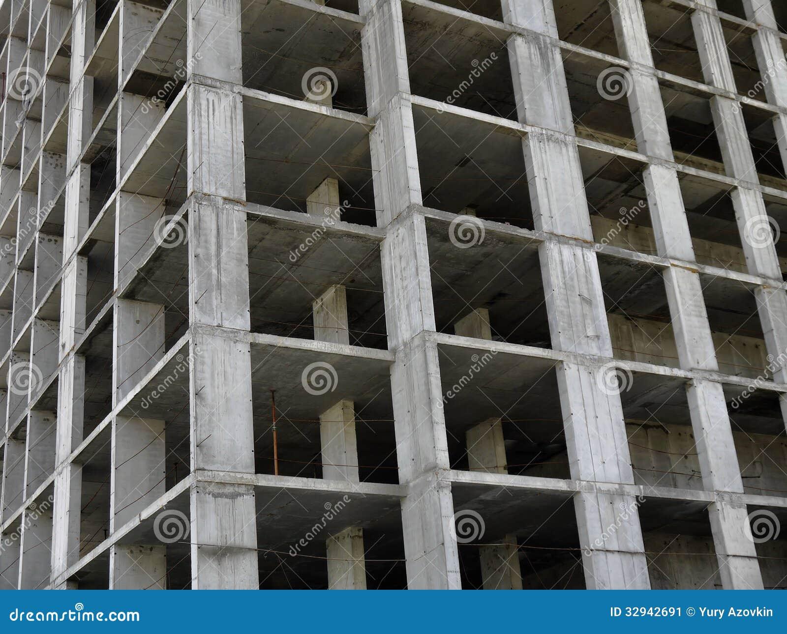 Photo reinforced concrete frame building under construction.