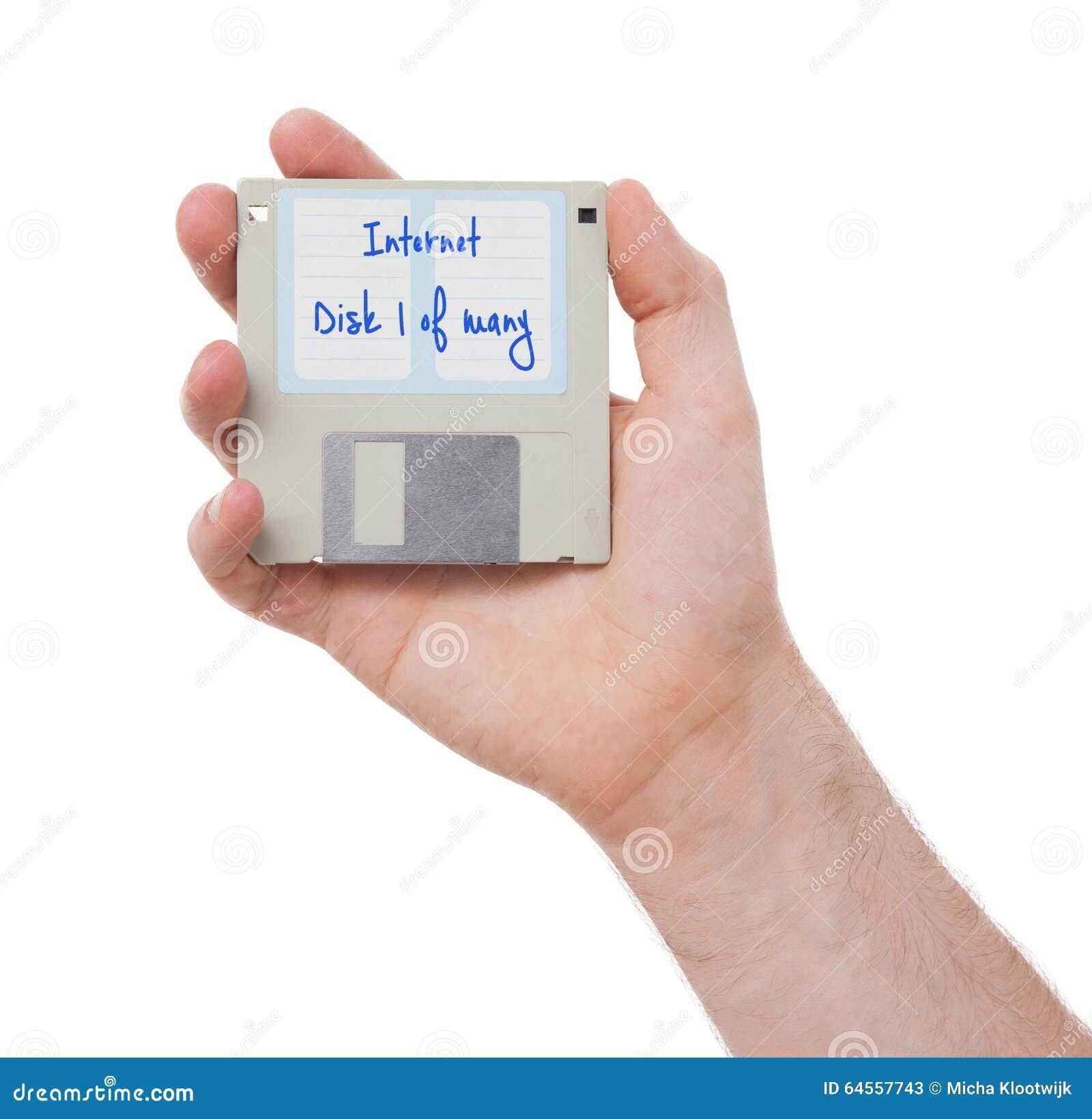 Floppy disk - Tachnology a partire dal passato, isolato su bianco