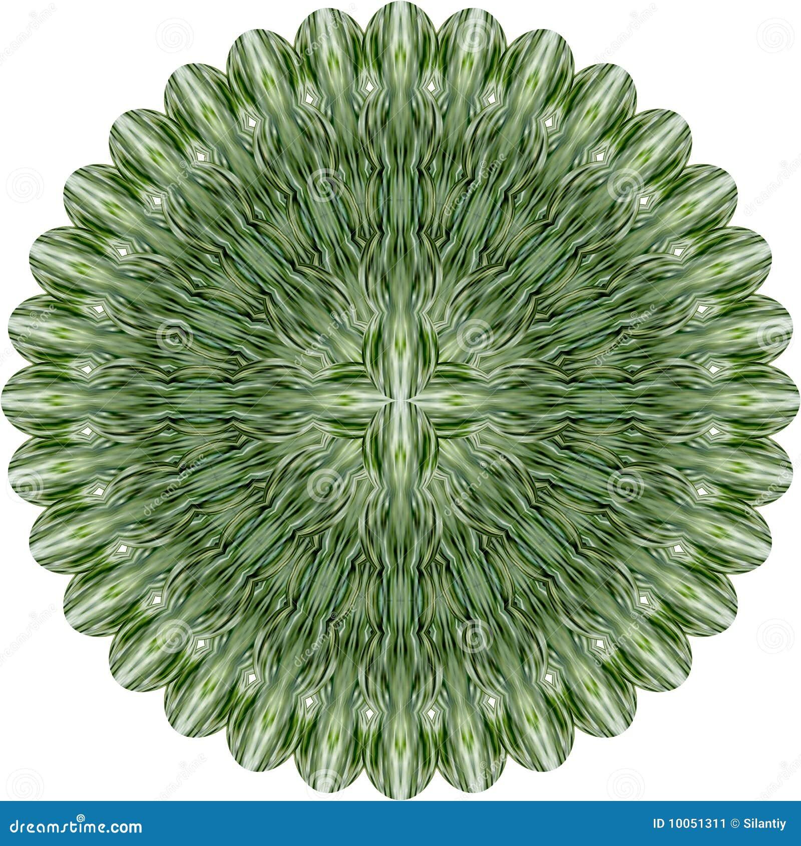 Flor abstrata verde.