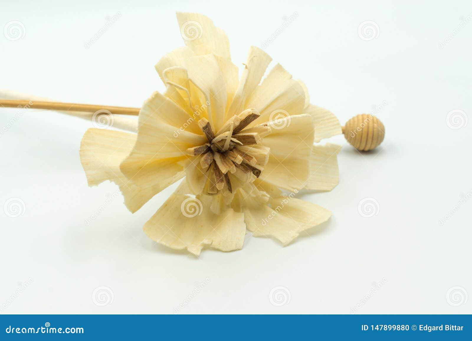 Flor artificial bege feito a mão para o evento