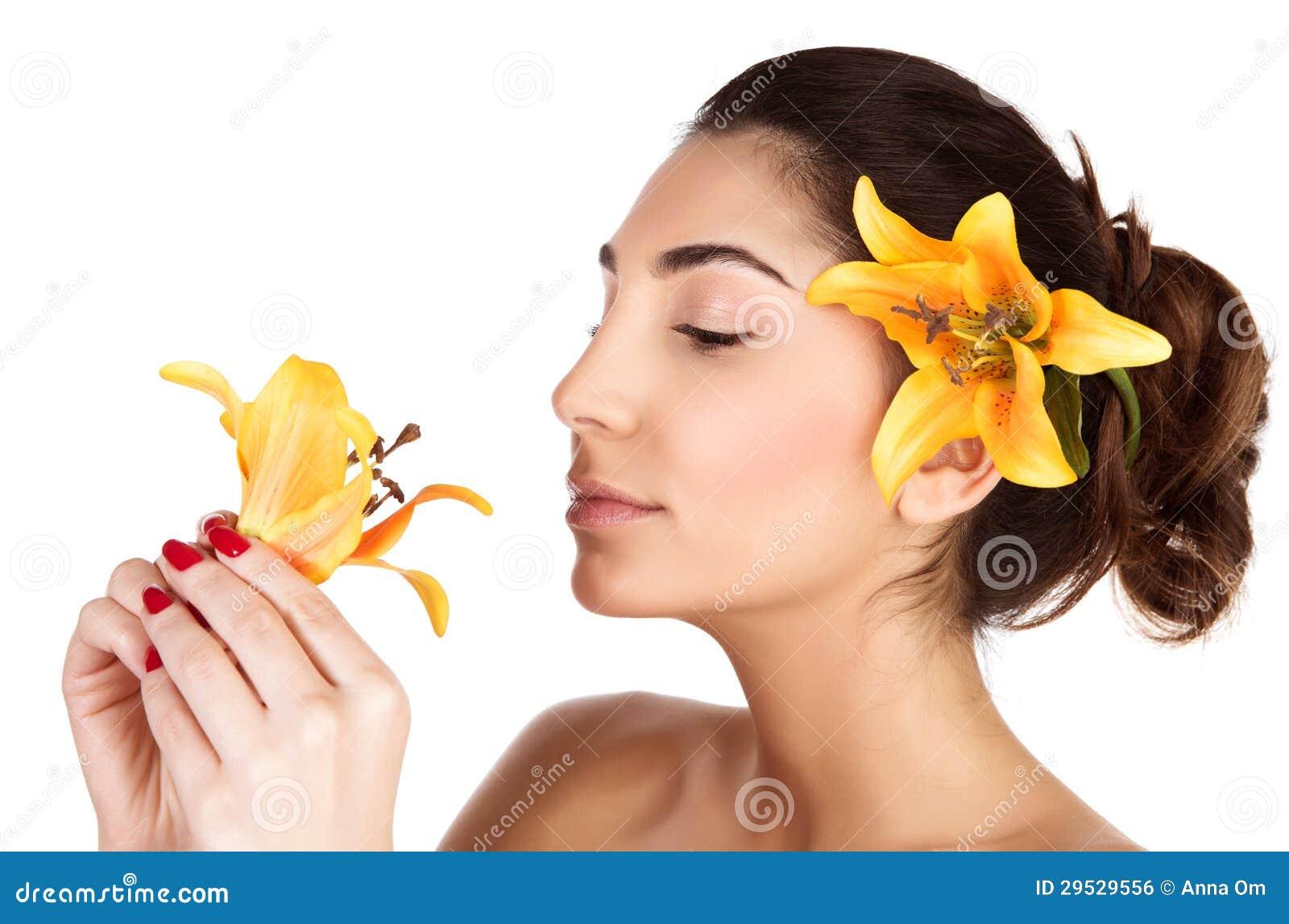 Flor de cheiro do lírio da mulher