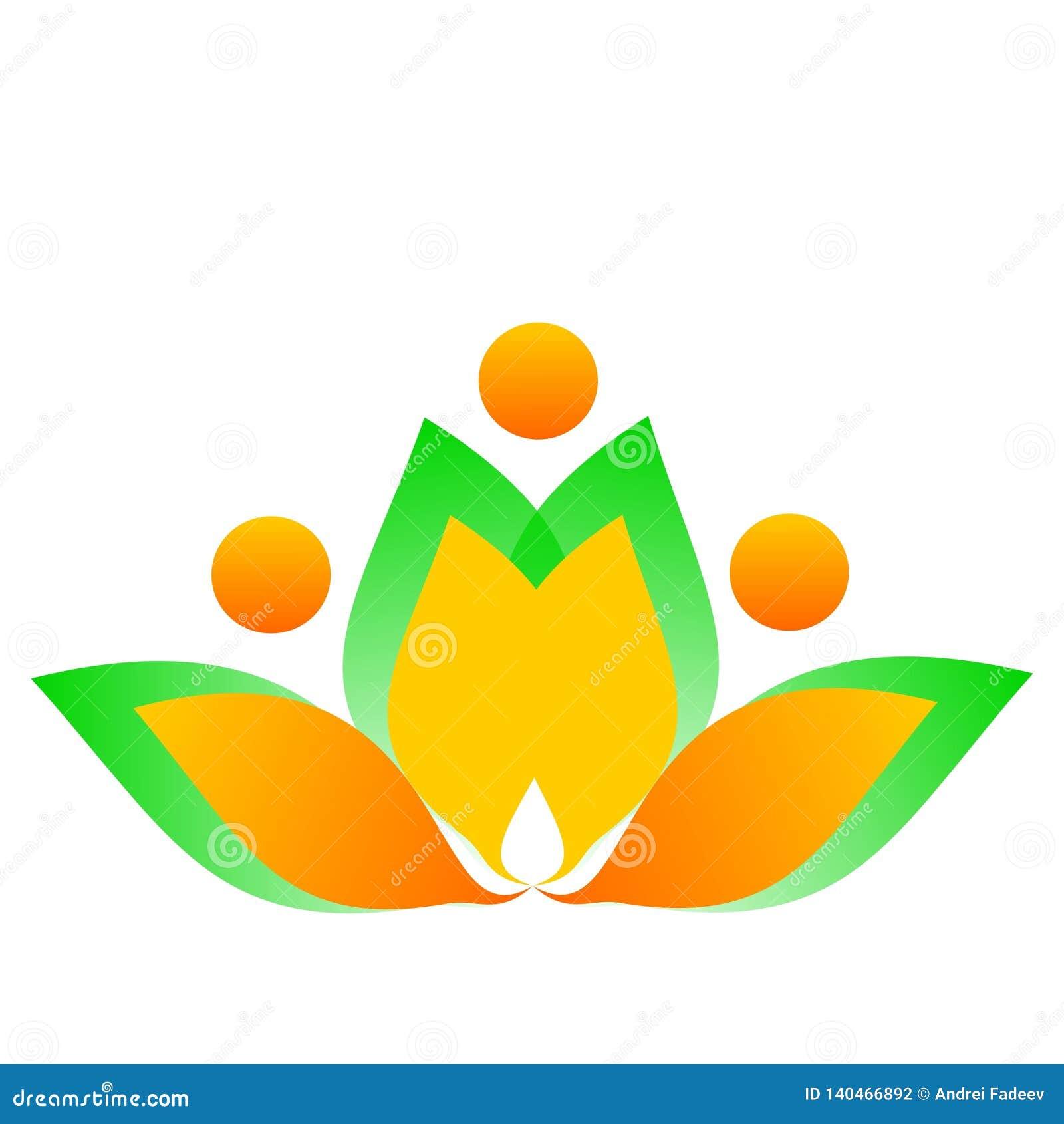 Flor de dibujo del logotipo del vector
