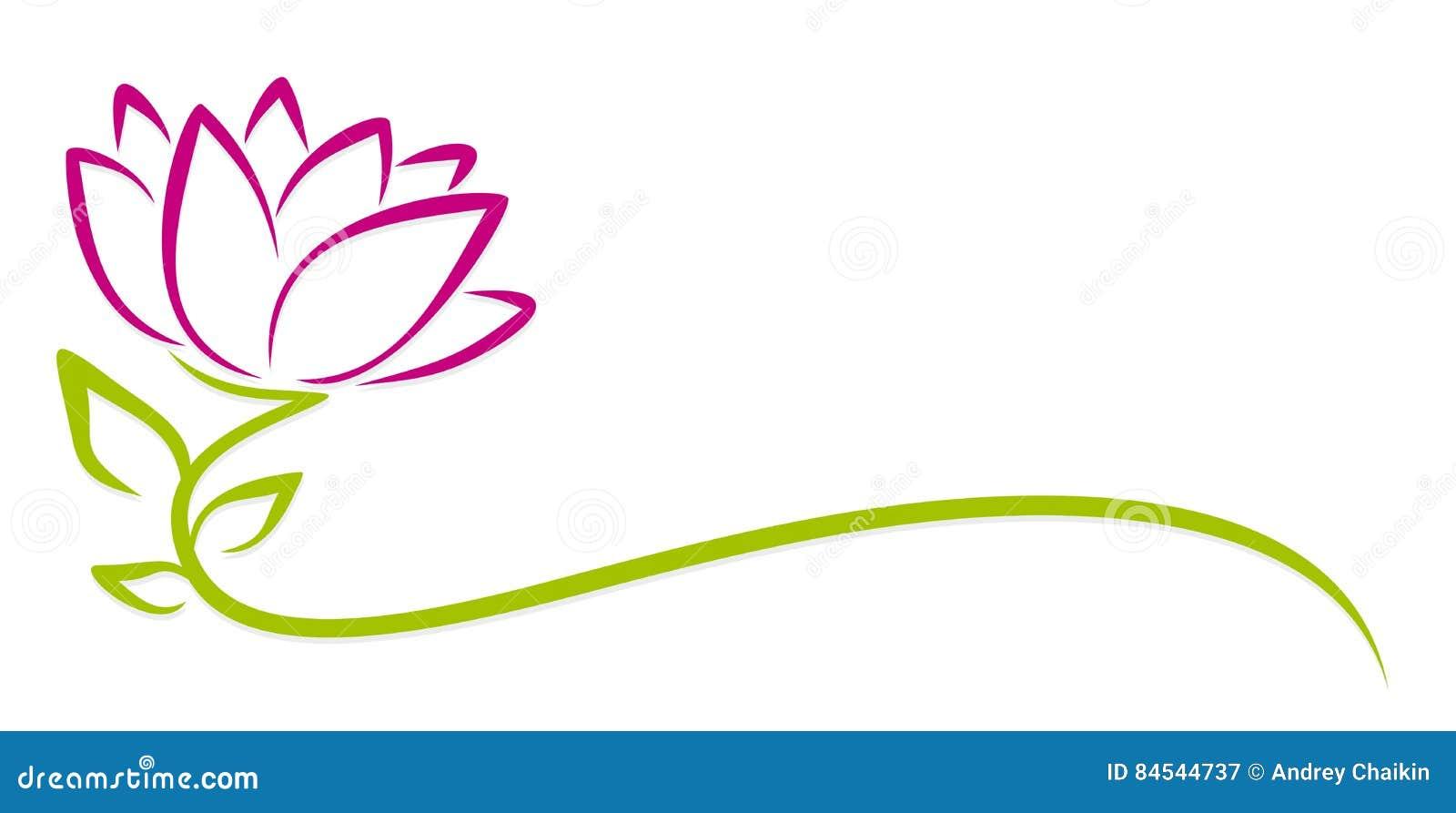 Flor de la púrpura del logotipo