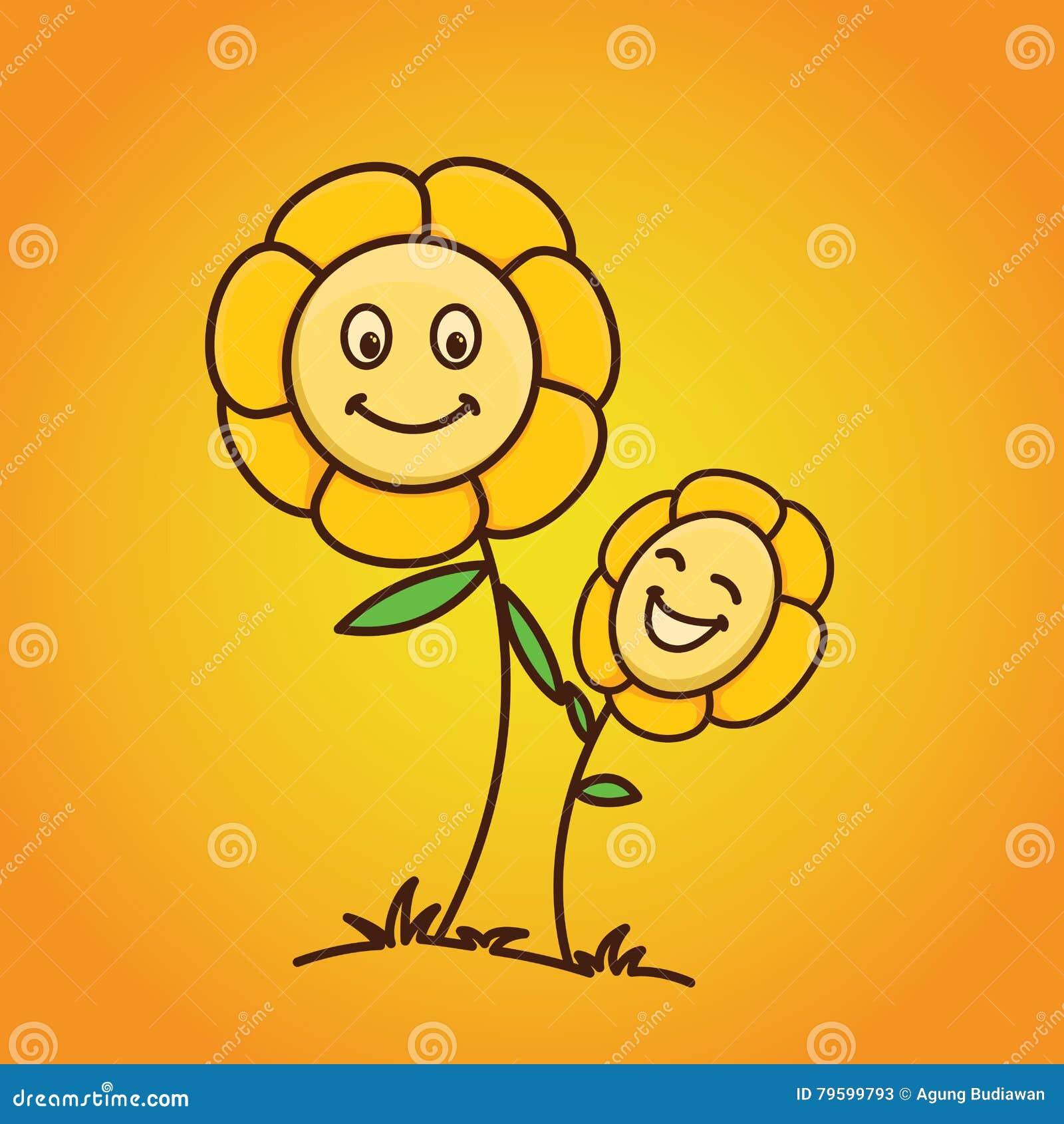 Flor del bebé con el fondo de la pendiente