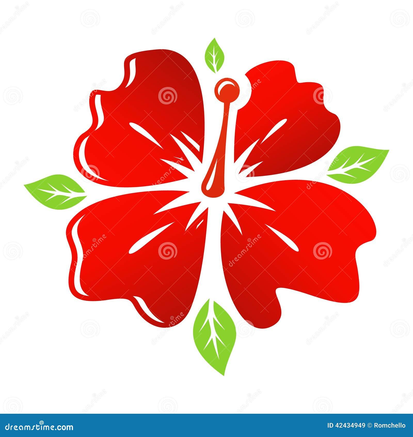 Flor del rojo del vector