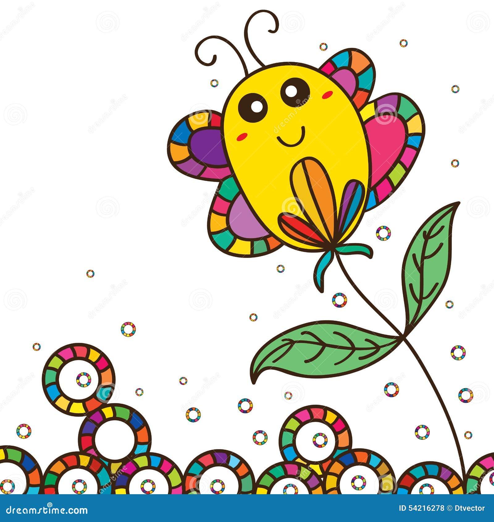 Flor linda del palillo de la mariposa gorda