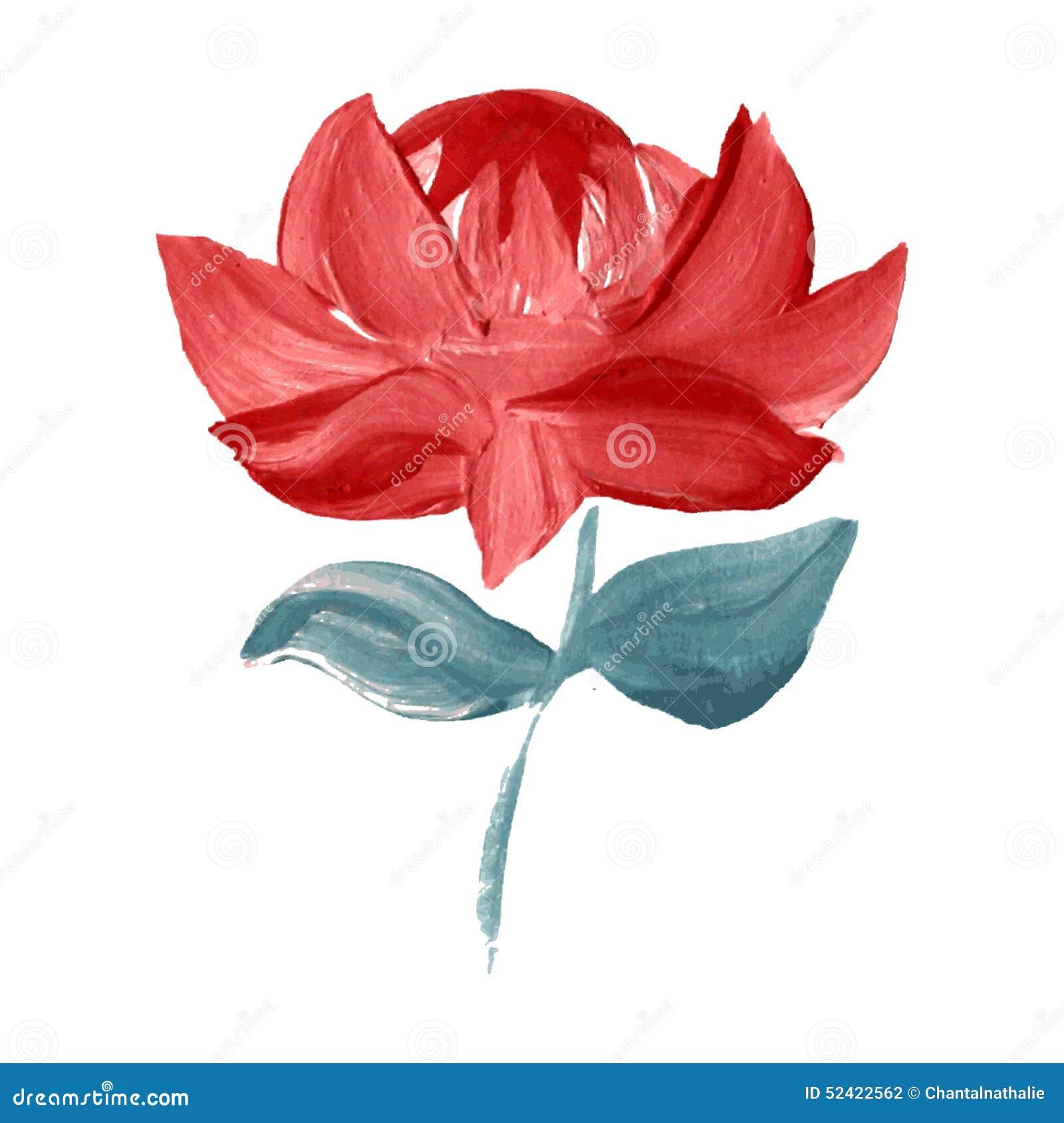 Flor pintada óleo