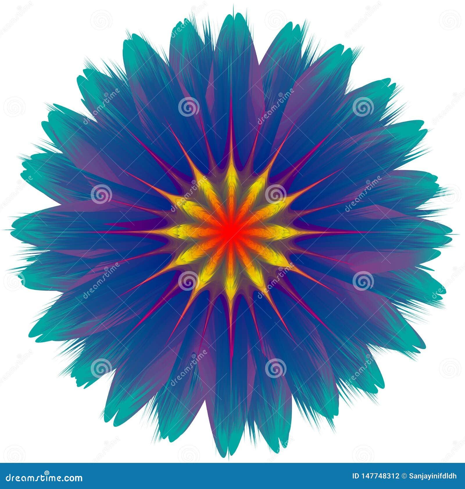 Flor que mistura-se, efeito do sumário do vetor do inclinação, ilustração colorida