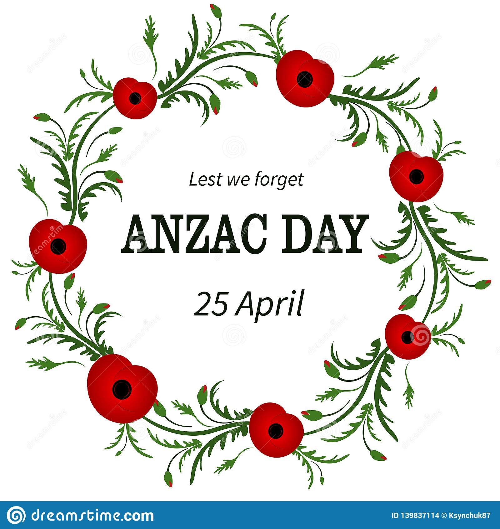 Flor roja de la amapola Anzac Day, marco floral Poppy Wreath Segunda Guerra Mundial, primera guerra mundial Día de la conmemoraci