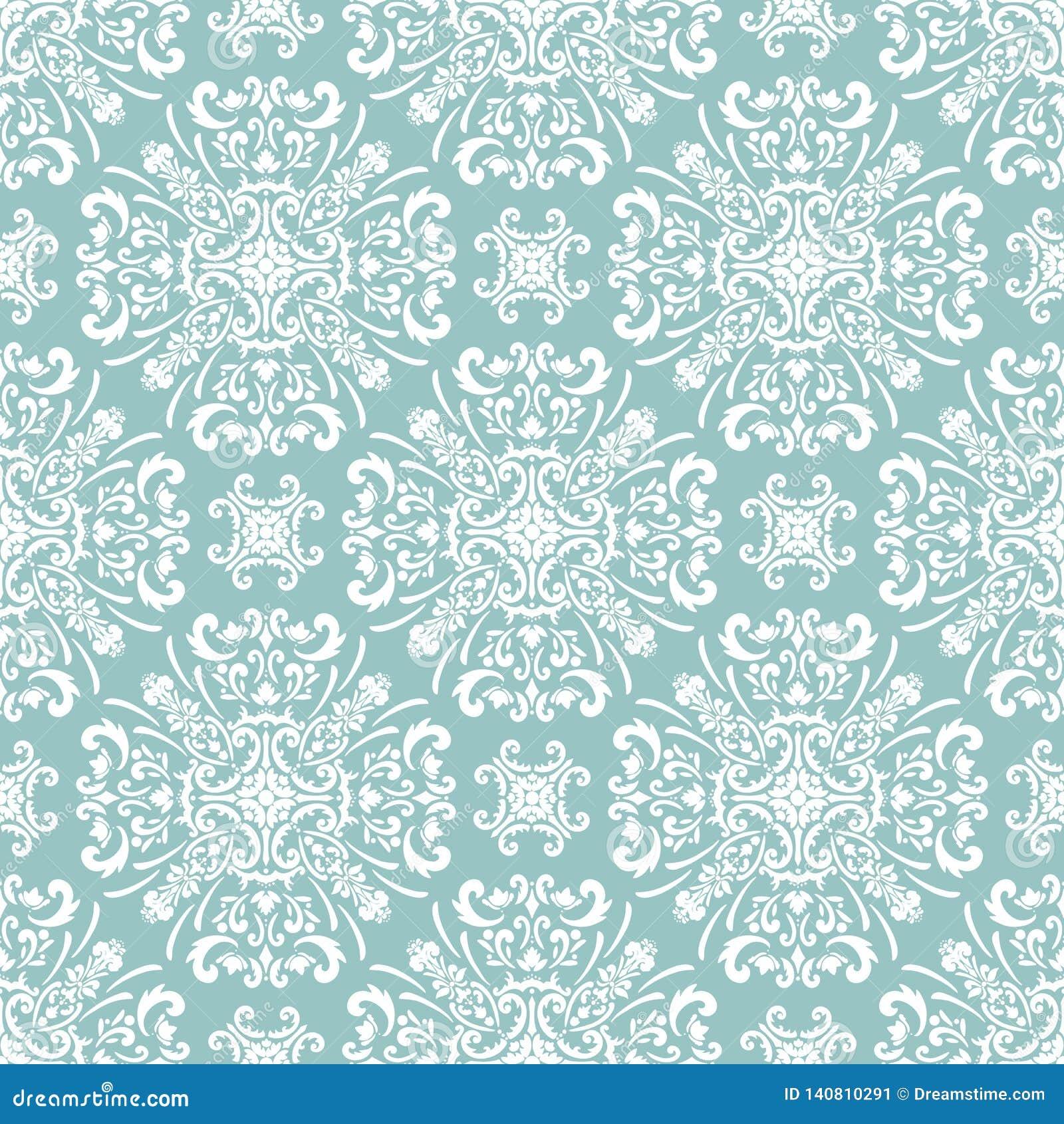 Floral άνευ ραφής damask σχεδίων μπαρόκ