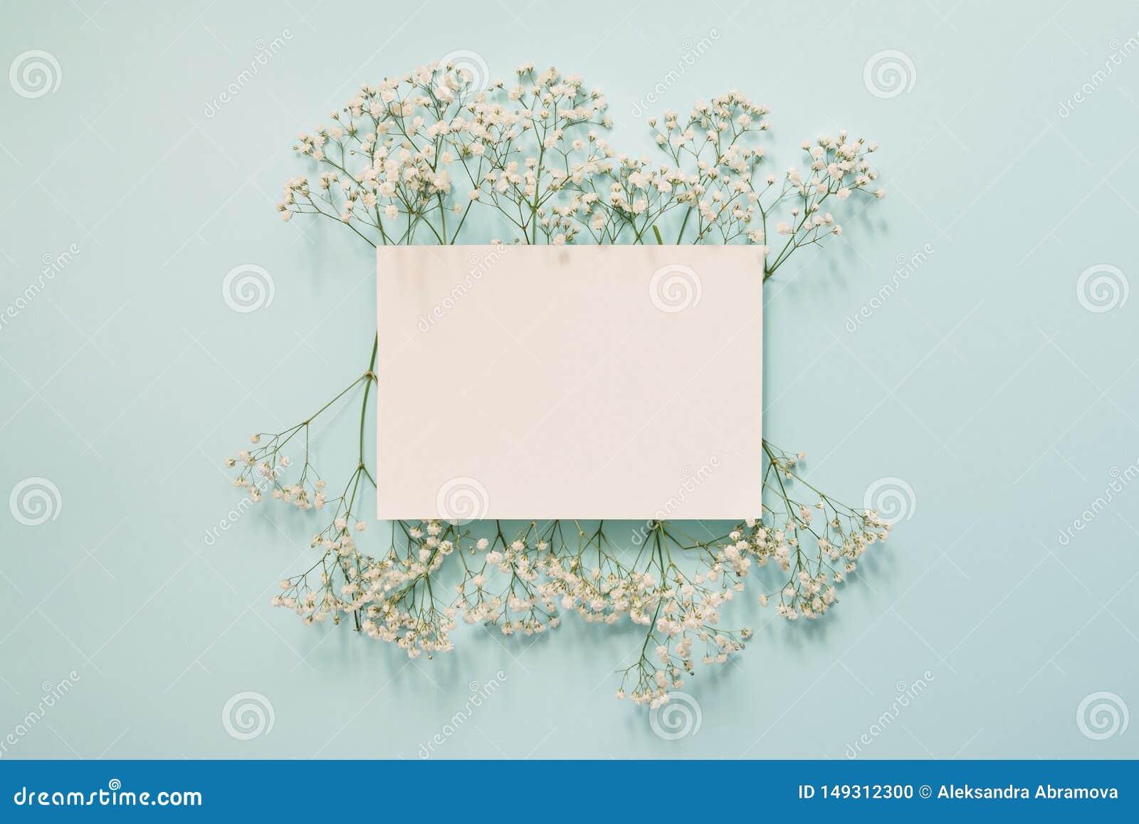 Floral άσπρο πλαίσιο