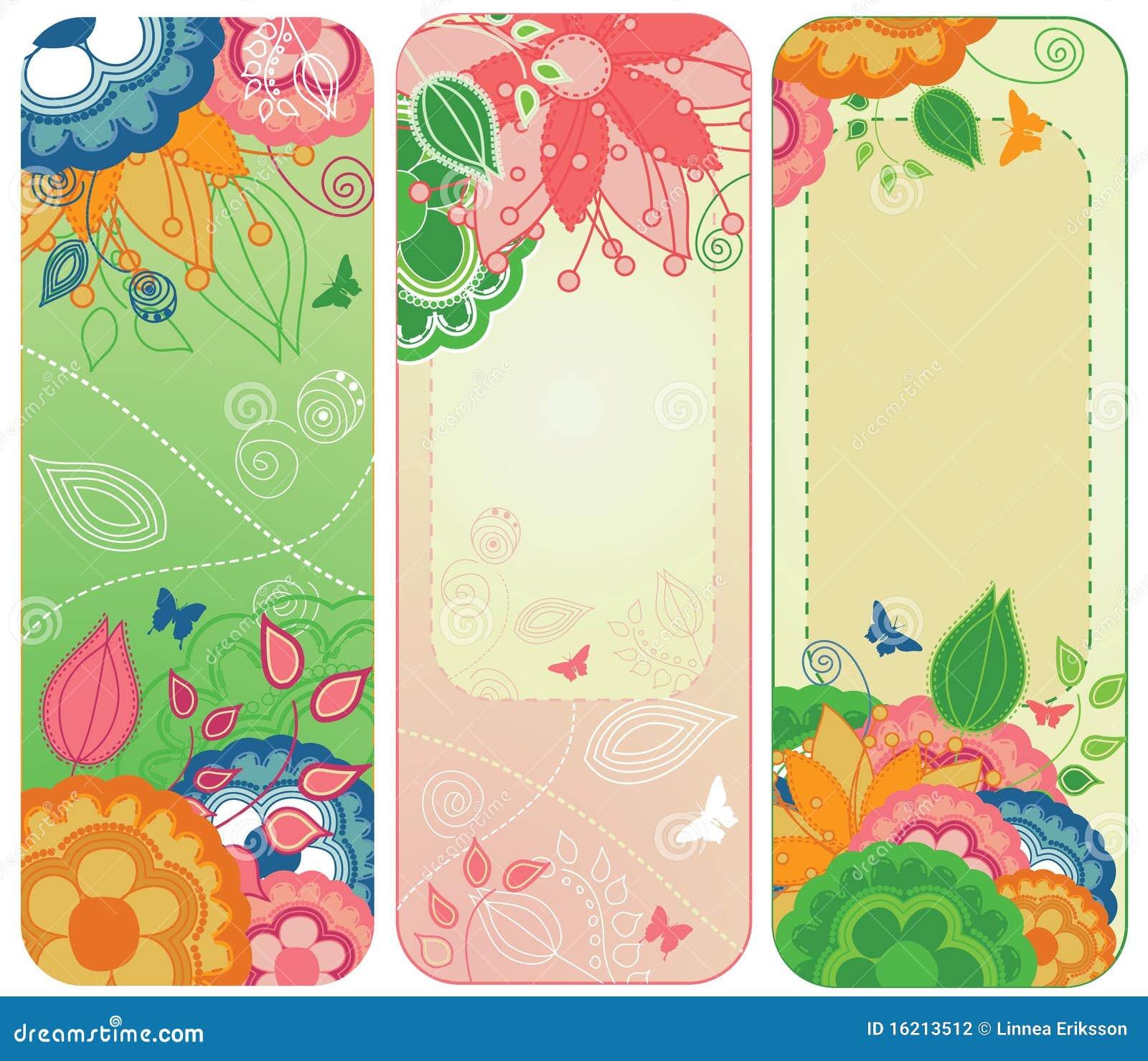 Floral γλυκό σελιδοδεικτών &eps