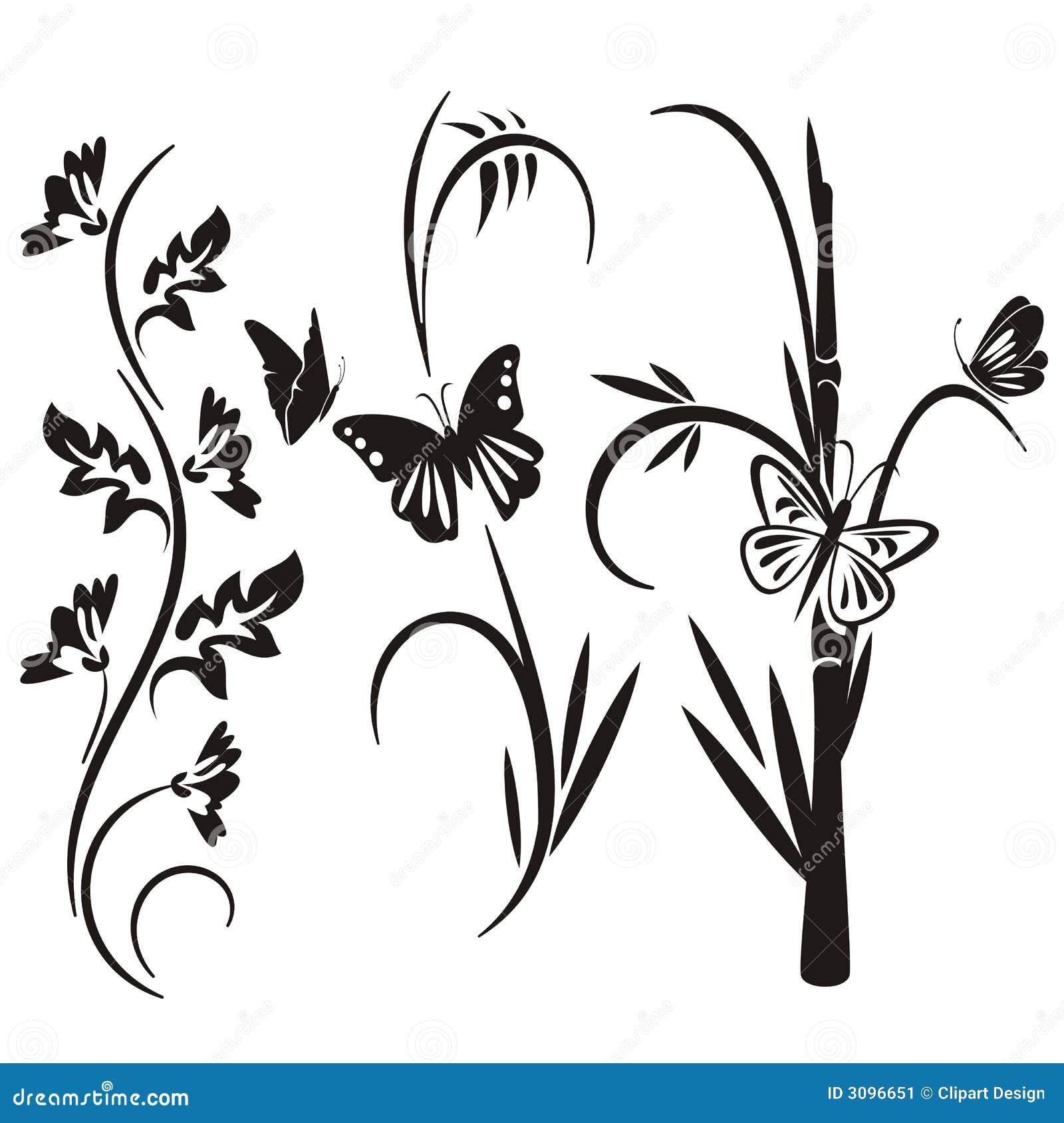 Floral ιαπωνική σειρά σχεδίου