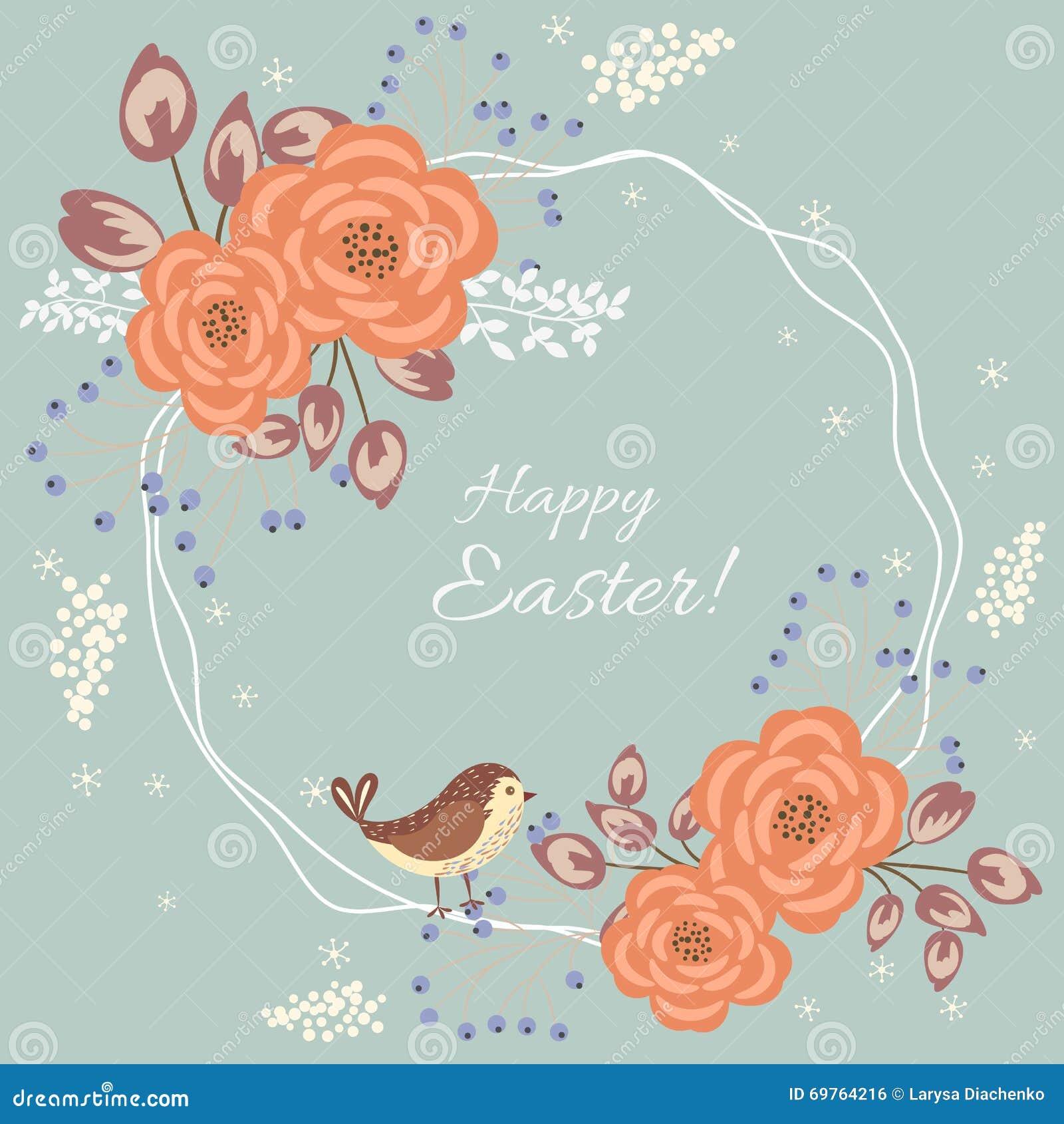 Floral κάρτα Πάσχας