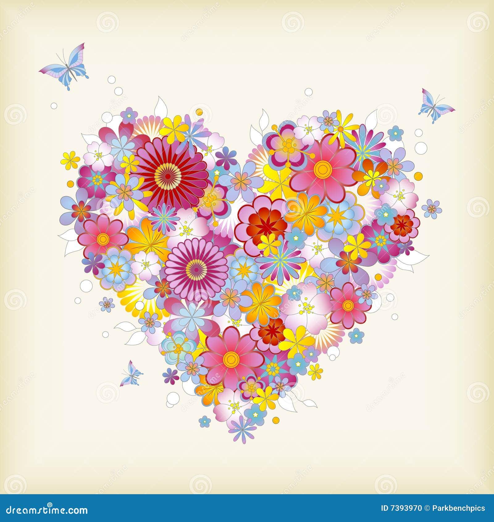 Floral καρδιά