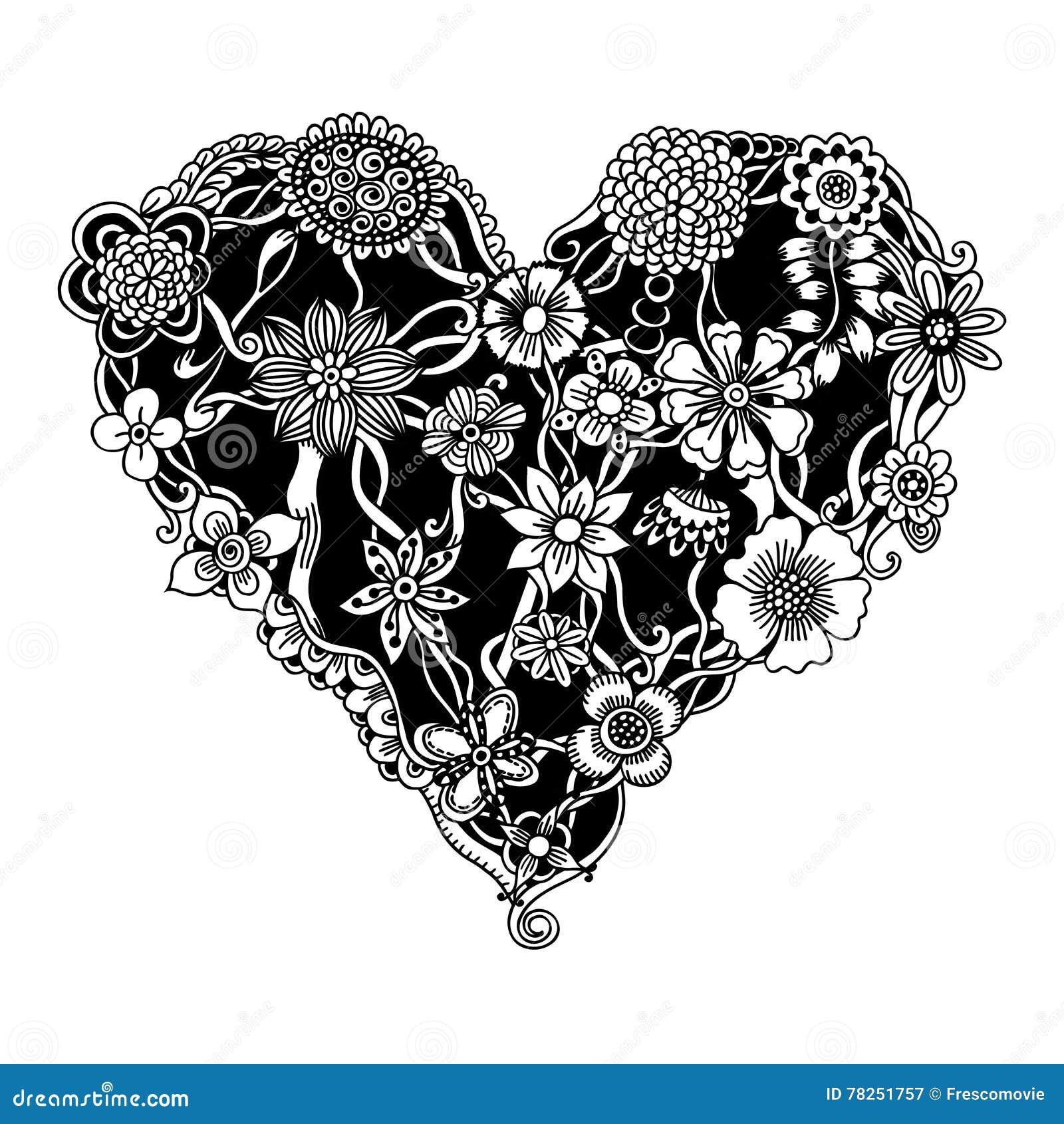 Floral καρδιά περίκομψη