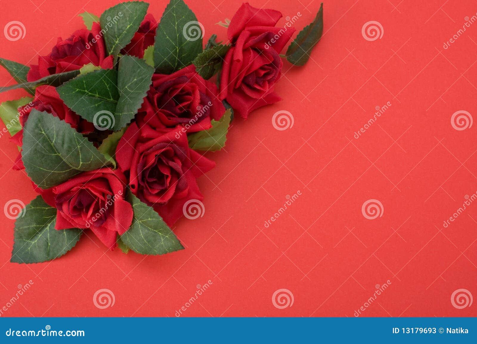 Floral κόκκινο ντεκόρ ανασκόπησ