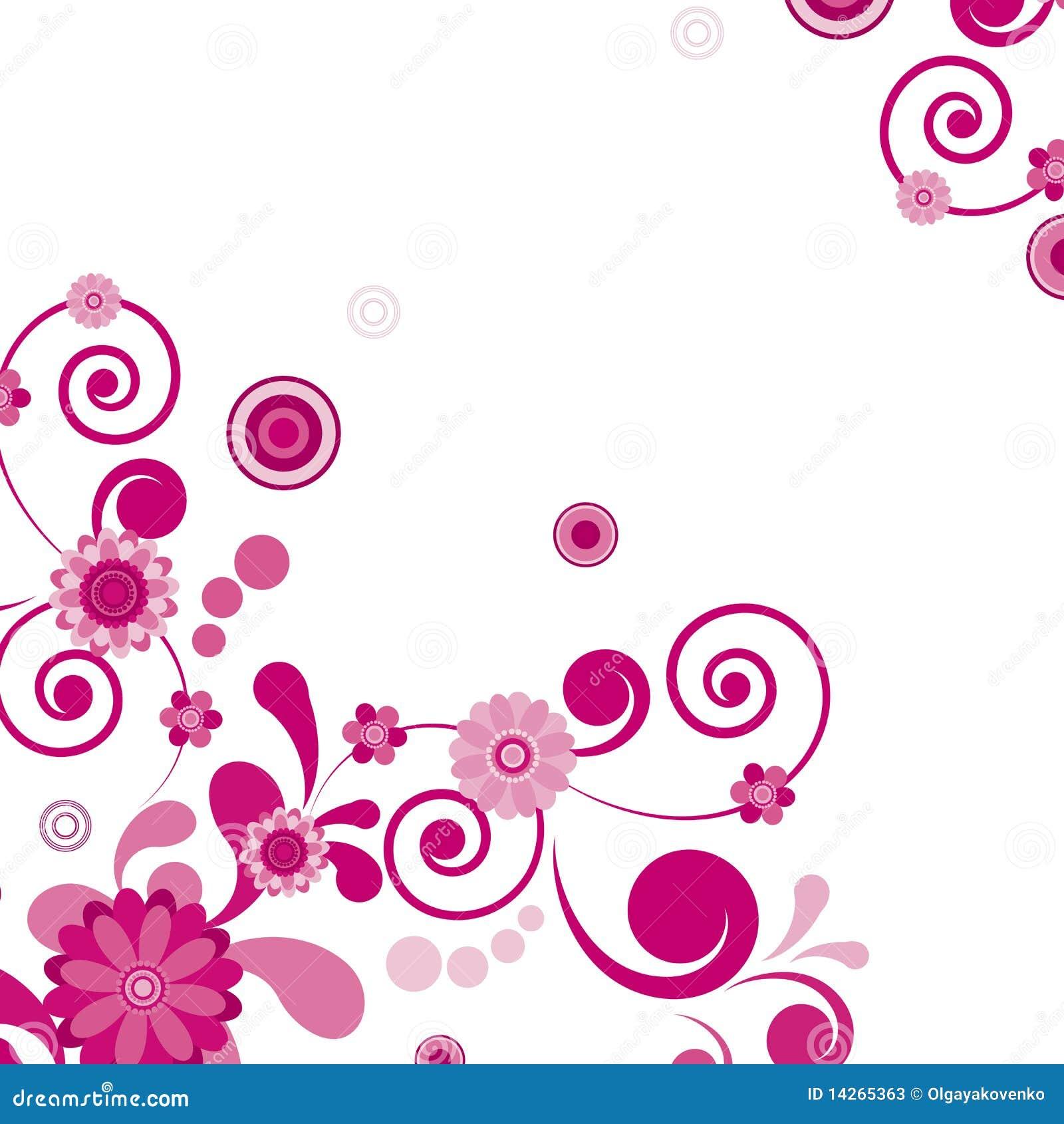 Floral ροζ λουλουδιών ανασ&kapp