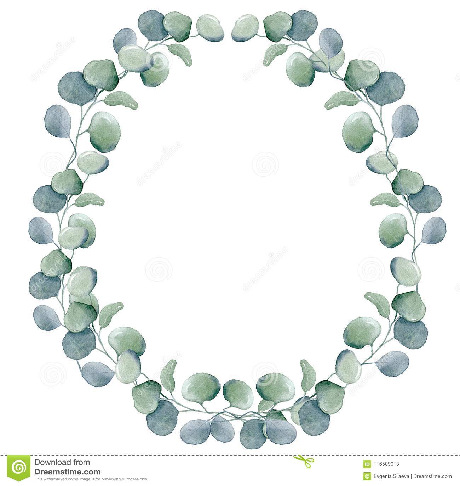 Floral στεφάνια Watercolor με την κορδέλλα για το κείμενό σας το έμβλημα είναι μπορεί διαφορετικοί floral σκοποί απεικόνισης χρησ