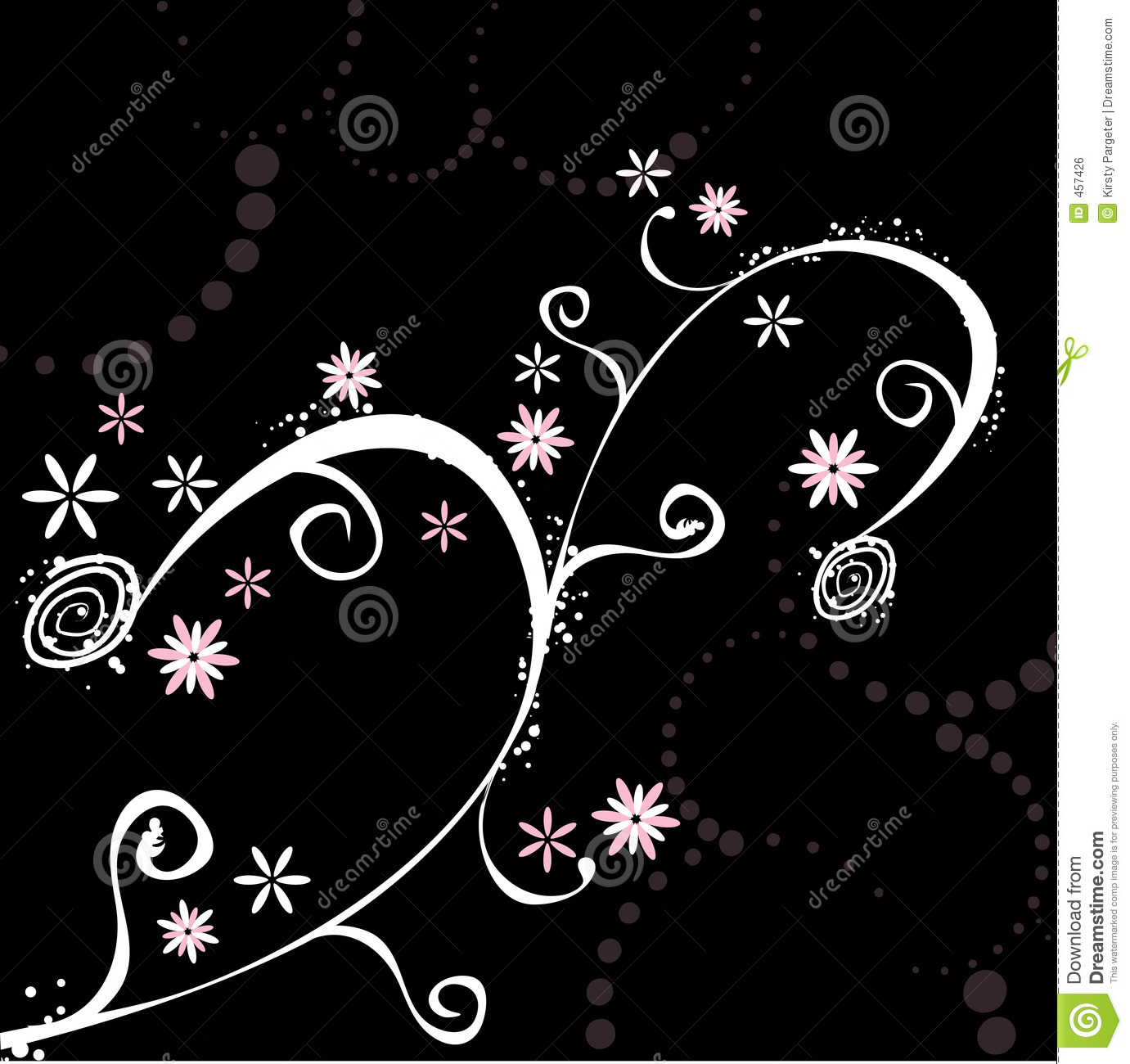 Download Floral abstract stock vector. Illustration of leave, outline - 457426