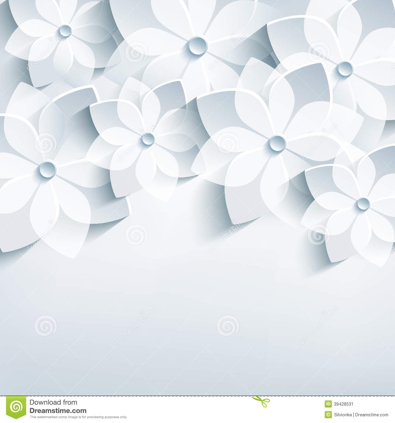 Floral Abstract Background, 3d Stylized Flowers Sa Stock ...