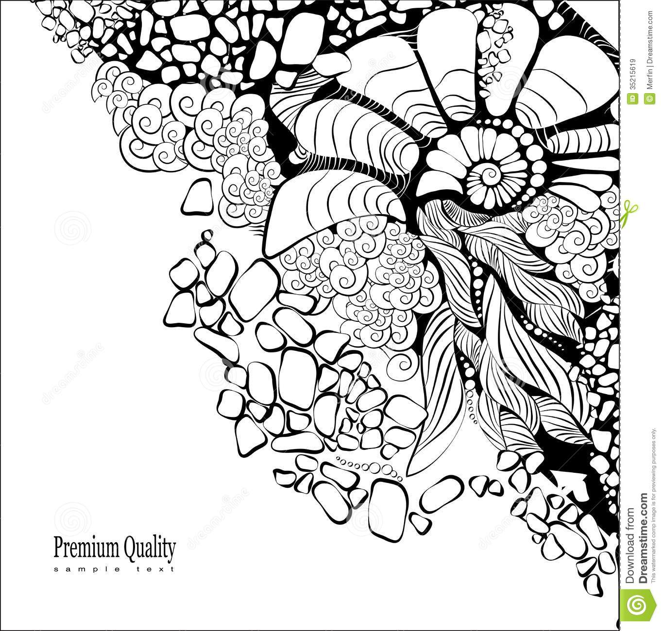 Floral Abstract Background. Design Template Stock Vector