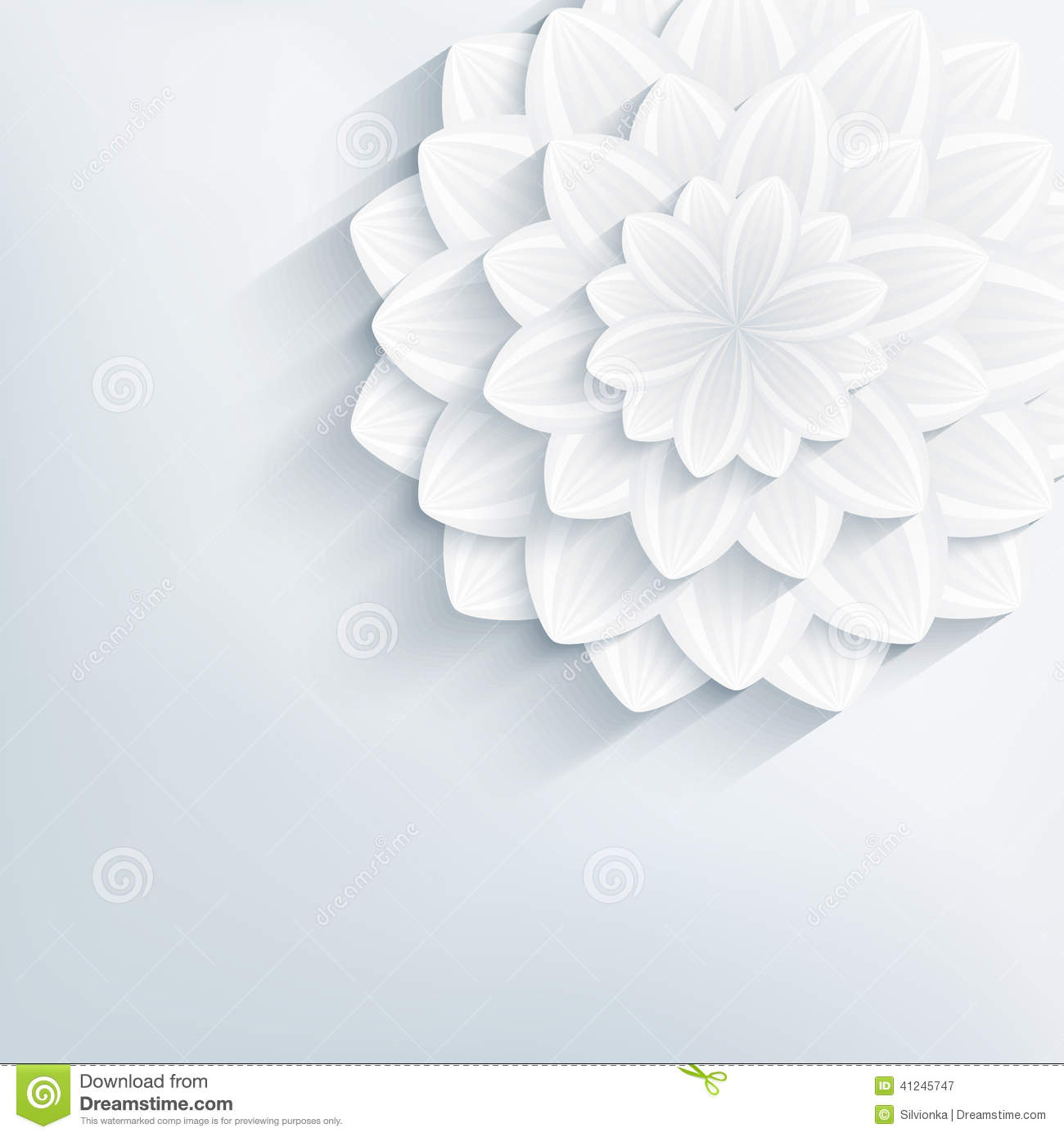 Floral abstract grey background with 3d flower stock for 3d white flower wallpaper