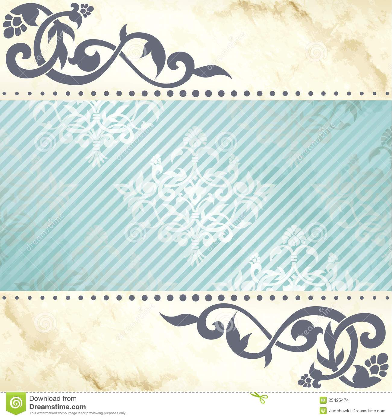 Download Floral Arabesque Background In Blue And Gold Stock Vector - Illustration of antique, element: 25425474