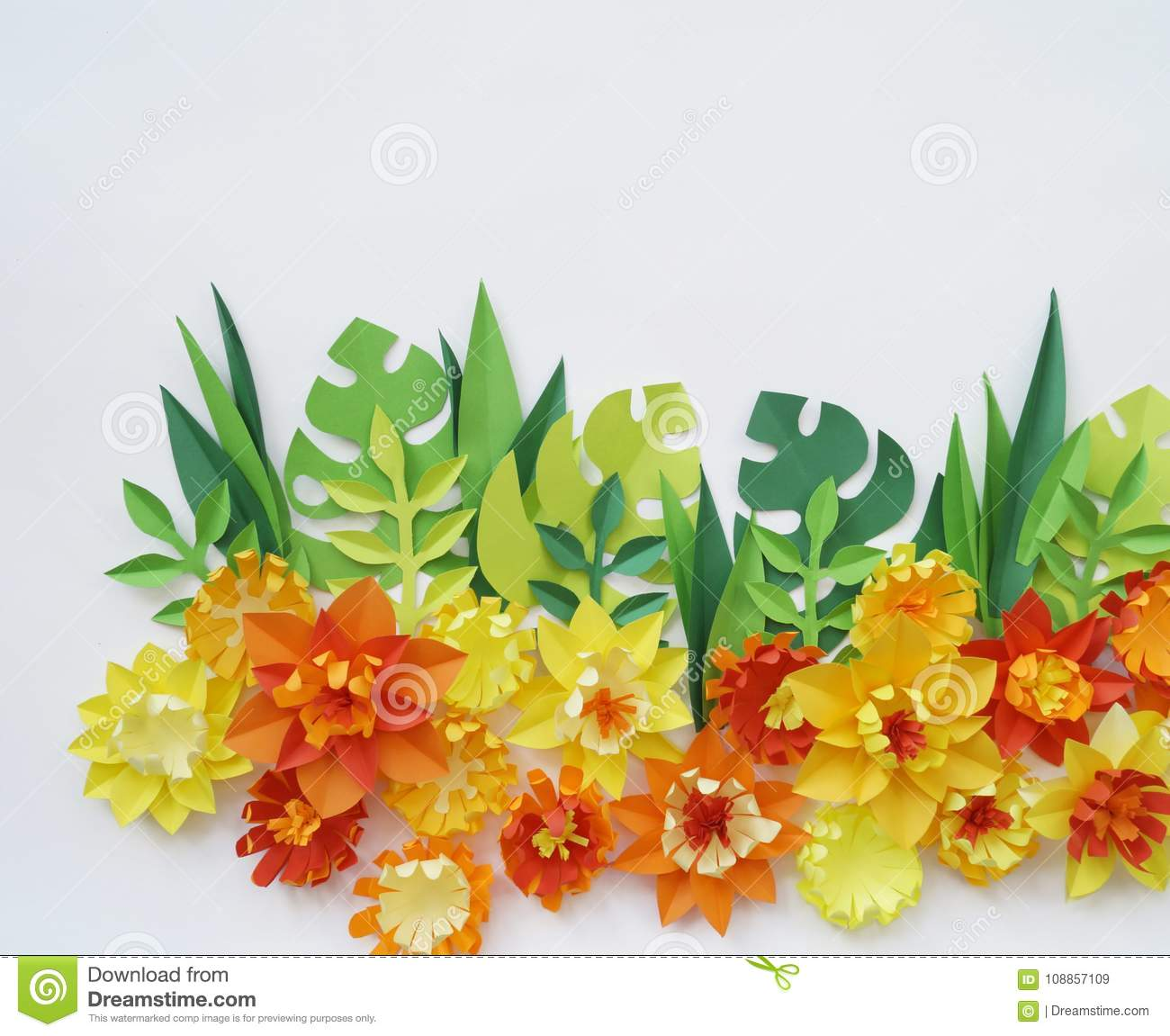 Floral arrangement of paper flowers on a white backgrounde view download comp mightylinksfo