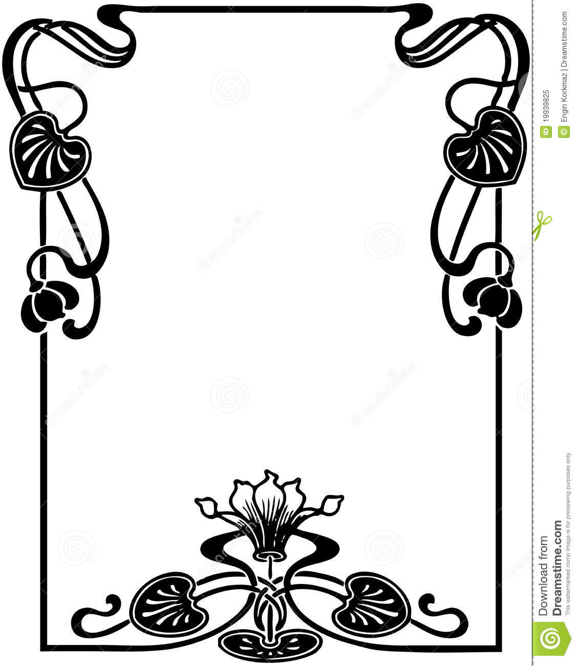 Floral Art Nouveau Frame Royalty Free Stock Photo - Image: 19939825