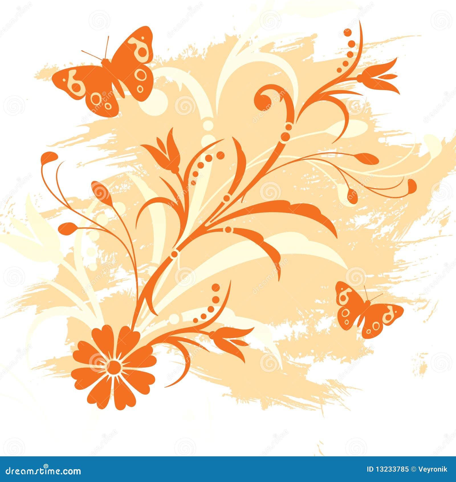Floral Background Stock Illustration. Illustration Of