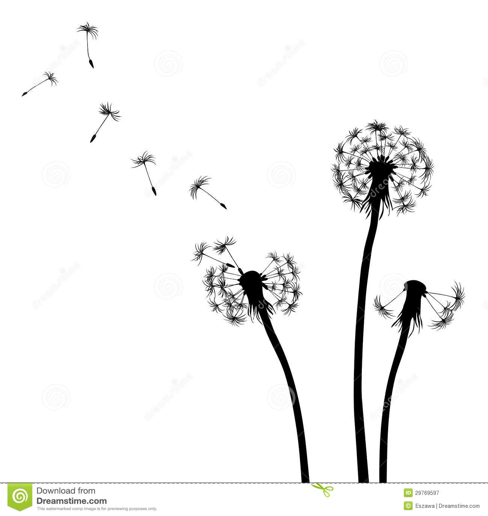 Black Flower Free Vector Download 16 295 Free Vector For: Floral Background, Dandelion Stock Vector