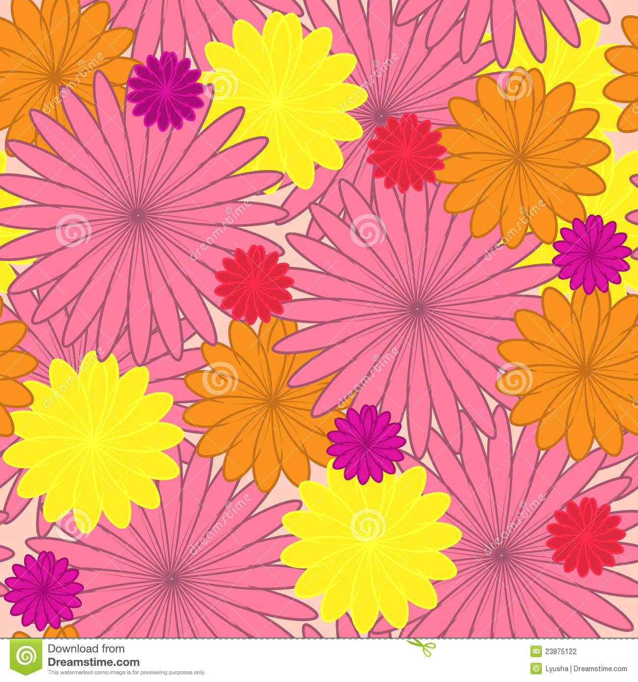 Floral background. flower seamless texture