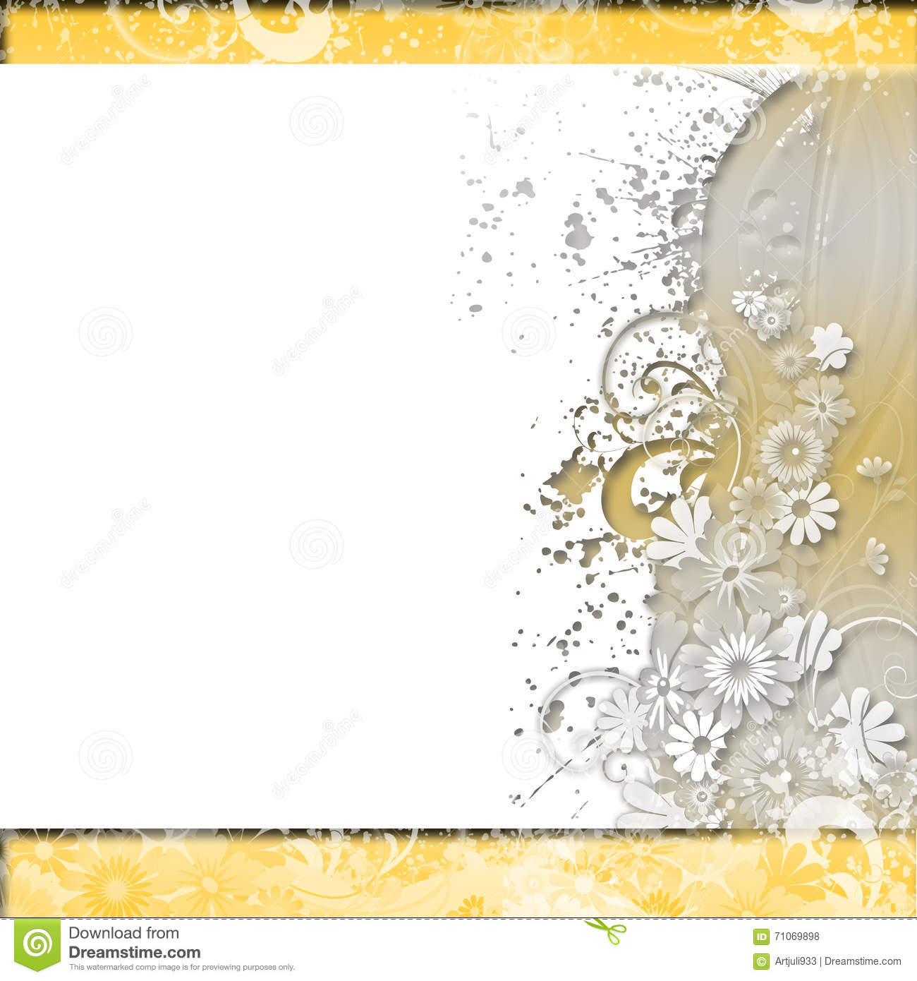 Paper Texture White Wedding Floral Background Royalty-Free ...