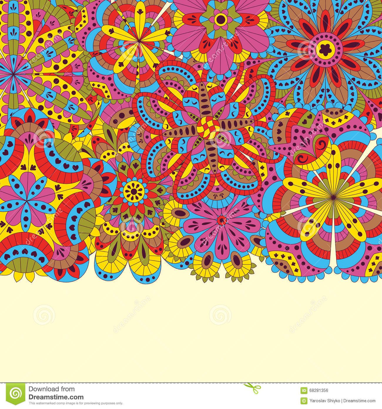 Floral Background Made Of Many Mandalas Good For Weddings Invitation Cards Birthdays