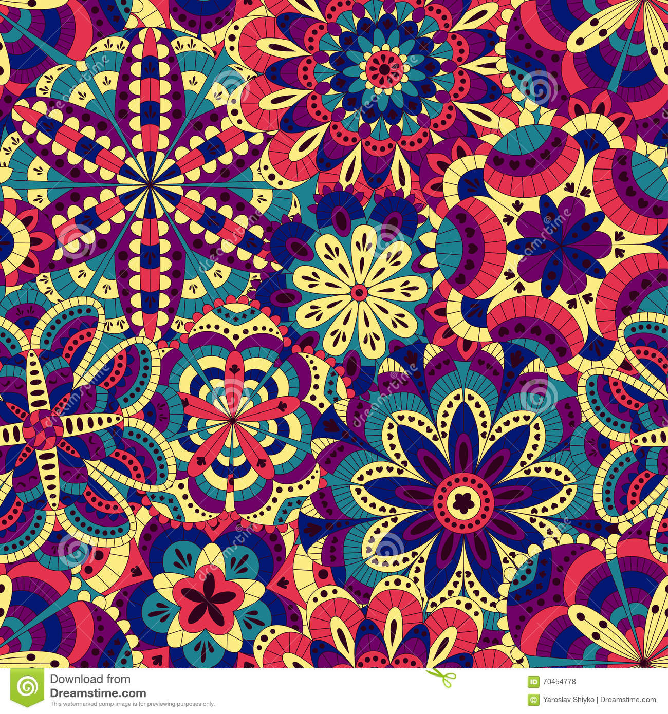 floral background made of many mandalas seamless pattern. Black Bedroom Furniture Sets. Home Design Ideas