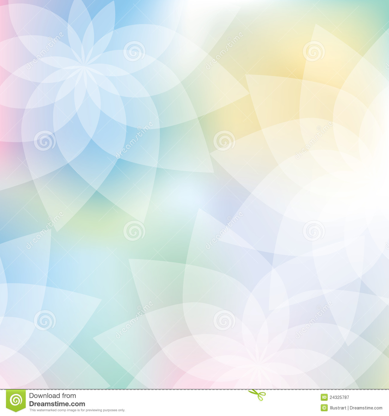 Floral Background In Pastel Colors Stock Vector