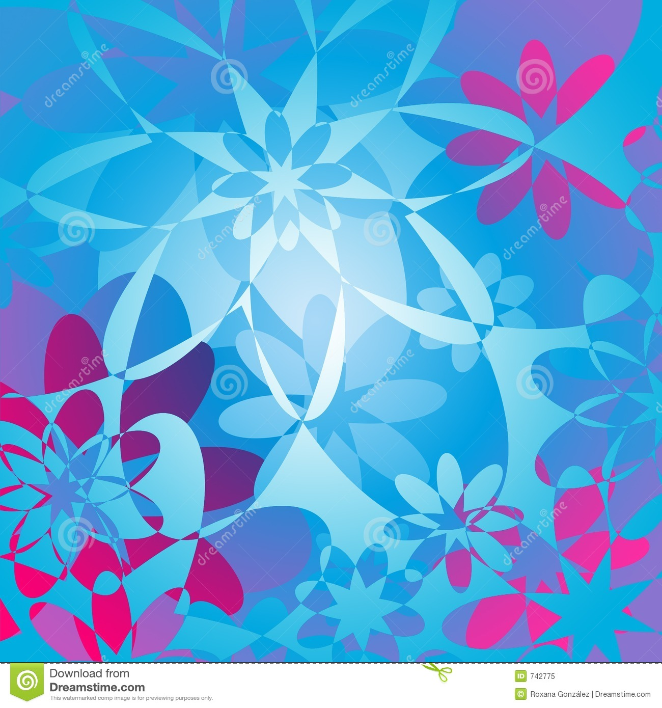 floral background pink amp blue royalty free stock photo