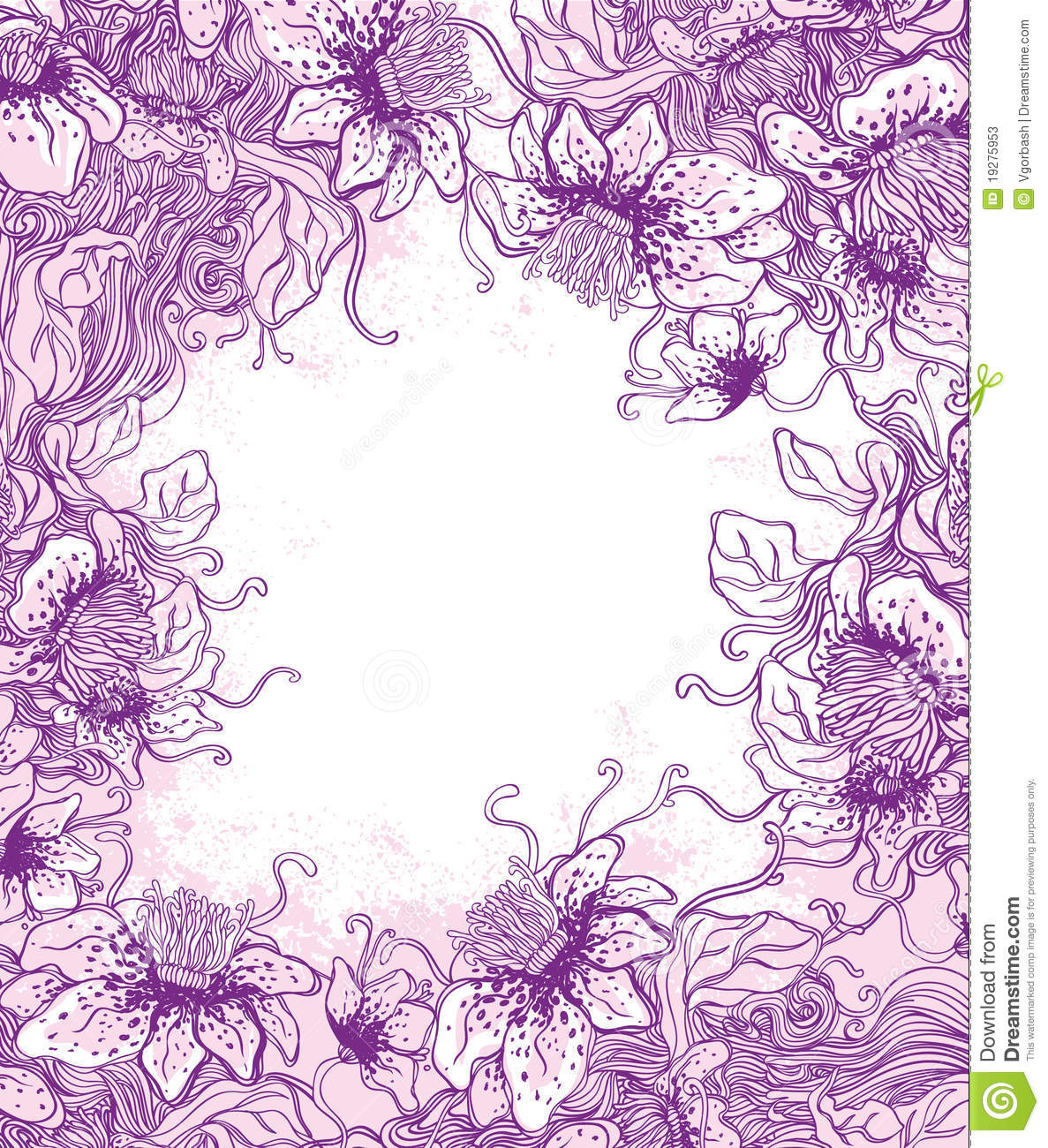 floral background in purple stock vector illustration of